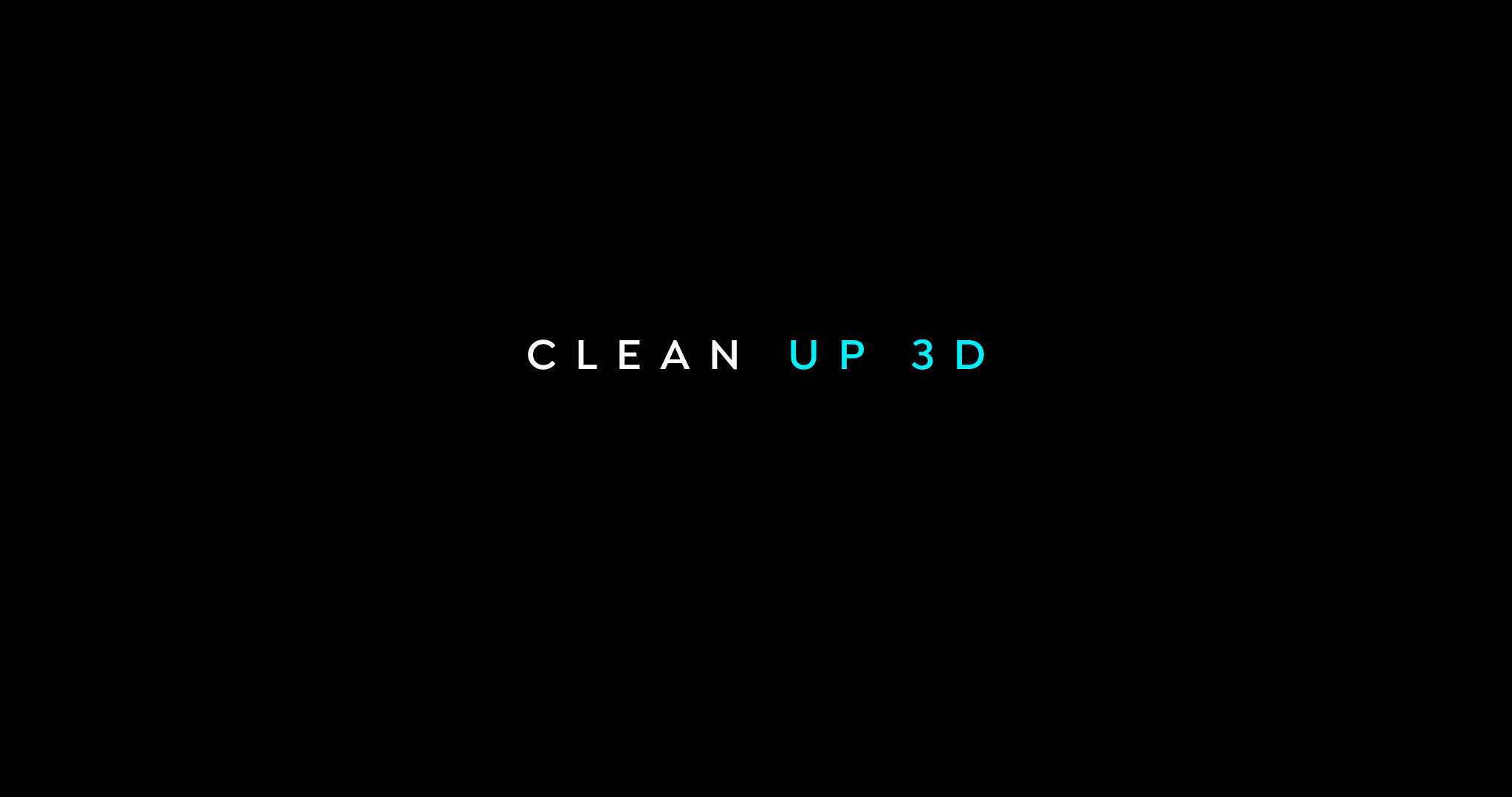 Clean up – 3D projections